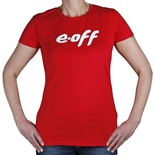 T-Shirt: E-off Frauen rot