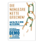 Flyer Kazaguruma-Demo Berlin 10.3.18