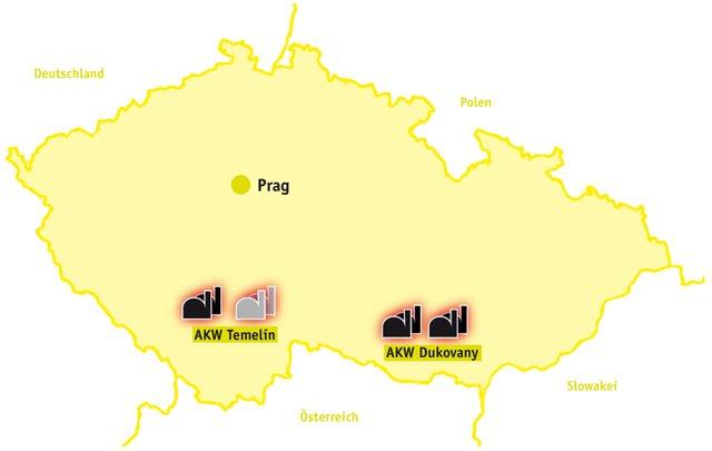 Prag Karte Tschechien.Atomkraft In Tschechien Ausgestrahlt De