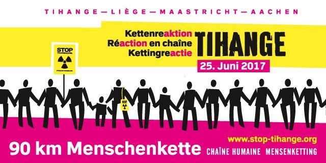 Aktionsbild zur Tihange Menschenkette