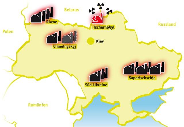 Tschernobyl Karte.Atomkraft In Der Ukraine Ausgestrahlt De